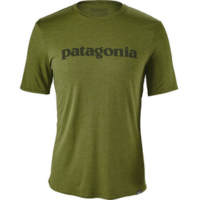 Patagonia M's Capilene Daily Graphic T-Shirt Text Logo: Sprouted Green X-Dye